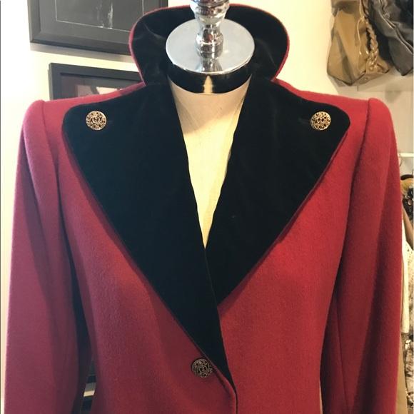 de4ea9b600b Yves Saint Laurent Jackets & Coats | Ysl Vintage Military Wool Coat ...